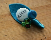 Personalised Name Childrens Buttonholes Page Boy Buttonhole Boutonniere Wedding