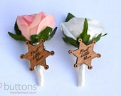 Best Little Man / Page Boy Real Touch Rose Flower Buttonhole Boutonnière