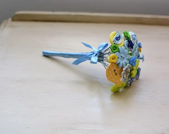 New Baby Boy Button Bouquet Gift