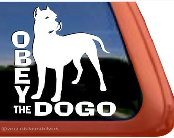 Dogo Argentino Decal Etsy