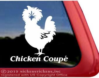 Chicken Bumper Sticker Chicken Love Silhouette Heart Vinyl Decal Sticker