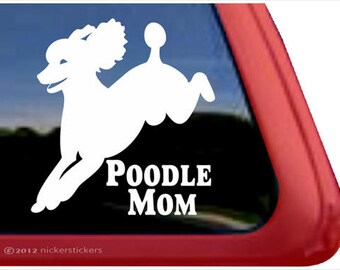 Poodle Mom Sticker Vinyl Auto Window v2 Standard