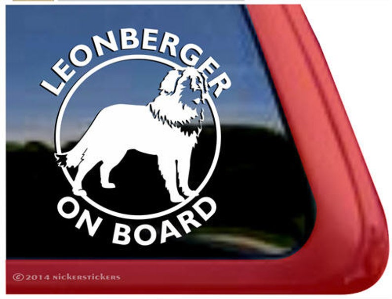 Leonberger On Board High Quality Adhesive Vinyl Window Decal Sticker DC474OB