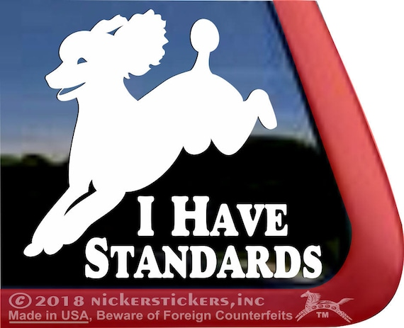 Poodle DadHigh Quality Vinyl Poodle Dog Window Decal Sticker