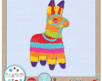 Pinata Cutting Files & Clip Art - Instant Download