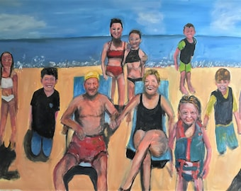 Sold Their precious Grandchildren Original Oil Painting by Marlene Kurland  SOLD
