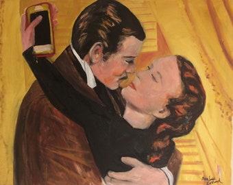 Scarlett's Selfie Giclee of Original Oil Painting by Marlene Kurland  18 x 24