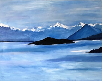 New Zealand Spectacular!  Giclee on Canvas of Original Oil Painting by Marlene Kurland