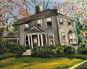 Anne and Phil's House  Original Oil Painting by Marlene Kurland  16 x 20