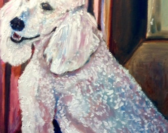Commission Oil Painting Custom Pet Portrait of Handsome Proud Lyndon  Original Oil Painting by Marlene Kurland  20x24  SOLD