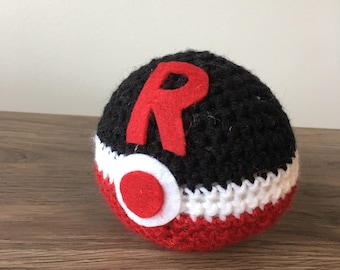 Team rocket pokeball crochet amigurumi plush