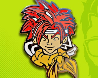 Chrono Trigger / Crono / Hat Pin / Lapel Pin / Hard Enamel / Time Travel / Video Game Pin / Lapel Geek Pin