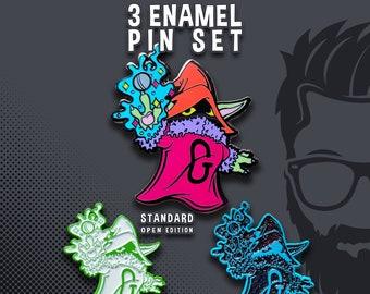 3 Enamel Pin Set Orko/ Baby Yoda Mash Up Enamel Hat Pin