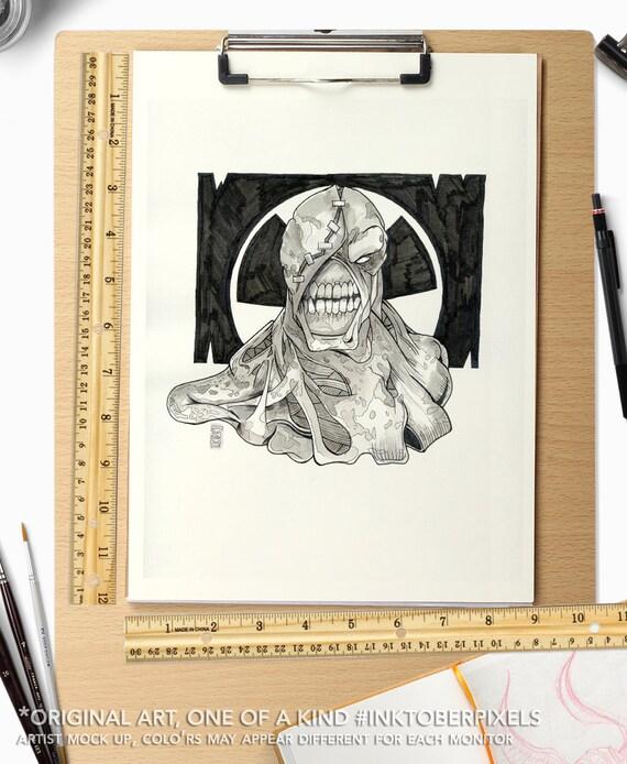 Inktober Original Art Day 26 Nemesis Resident Evil Etsy