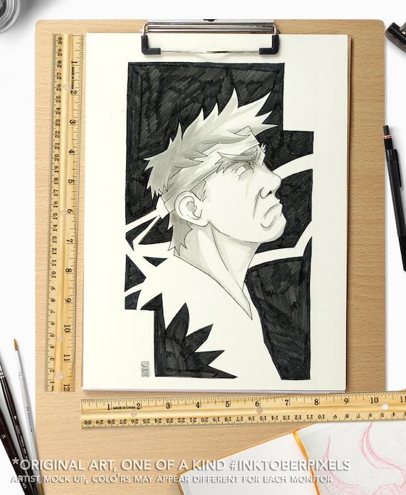 Inktober Original Art Day 21 Ryu Street Fighter 2 Pen And Etsy