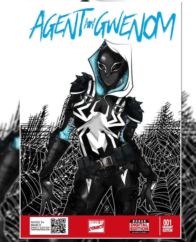 Agent Gwenom Spider Gwen Spider Woman Agent Venom Art Print / image 0