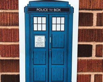 Silk Screened TARDIS Doctor Who Limited Edition 10x20 Print