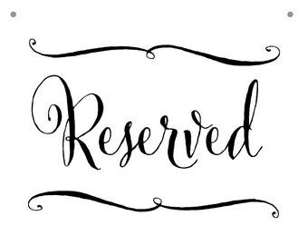 Reserved Aisle Etsy