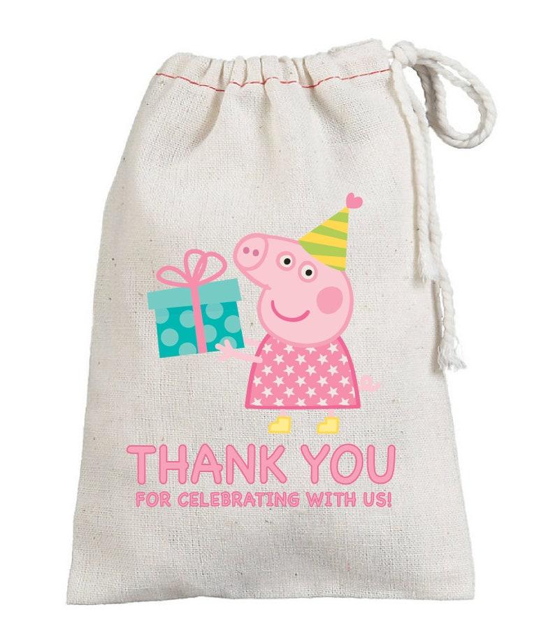 Gefälligkeiten Partei Geburtstagsparty Peppa Geburtstags Behandelt Mitbringsel Pig Taschen Geburtstag Danke Beute Favor DEHW2be9IY