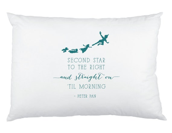 Peter Pan Quote Second Star To The Right And Straight Etsy