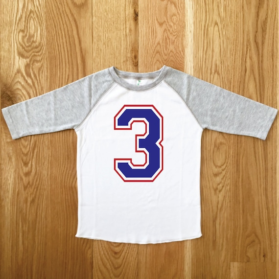 Sporty Boys Birthday Tee 3rd Baseball Third