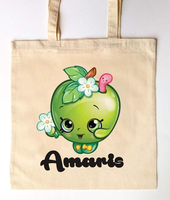 Personalised Shopkins Canvas Drawstring Bag