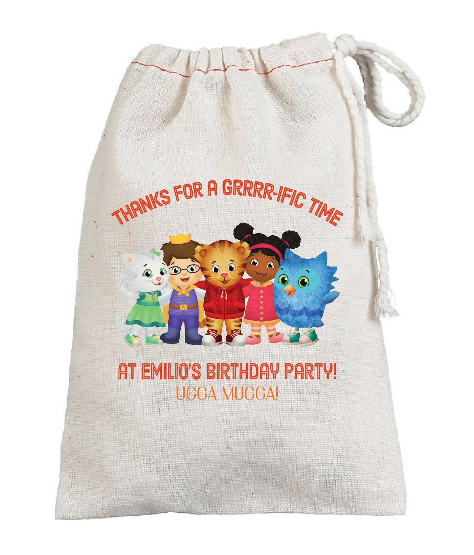 Daniel Tiger Birthday Party Favor Bags Grrr-rific party | Etsy