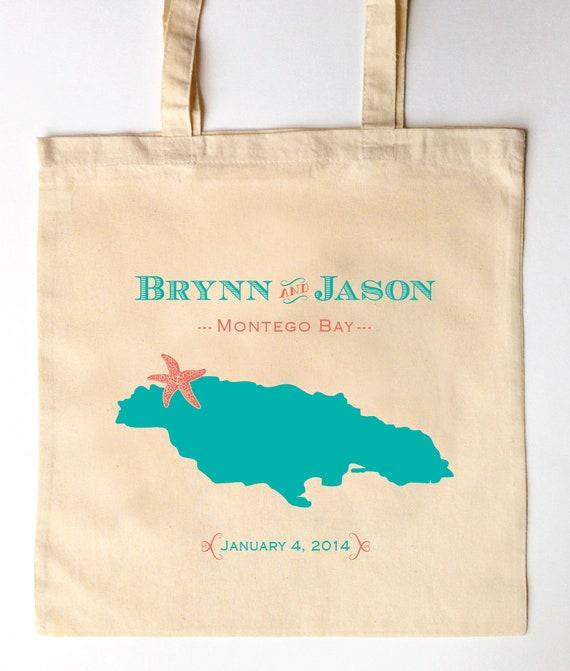 Original Jamaican Photo Canvas Tote//Beach Bags