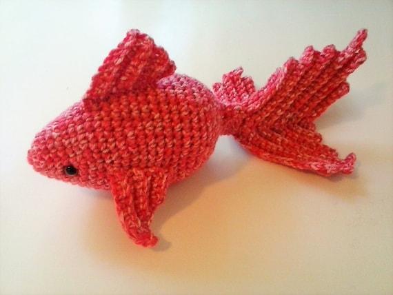 Große Amigurumi Goldfisch Häkeln Koi Fisch Koralle Etsy