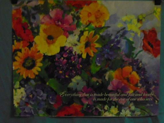 BEAUTIFUL Single Calendar Picture INSPIRATIONS:FLOWERS 'Everything that is  made   ' for Framing,Scrap Booking,Jewelry Making