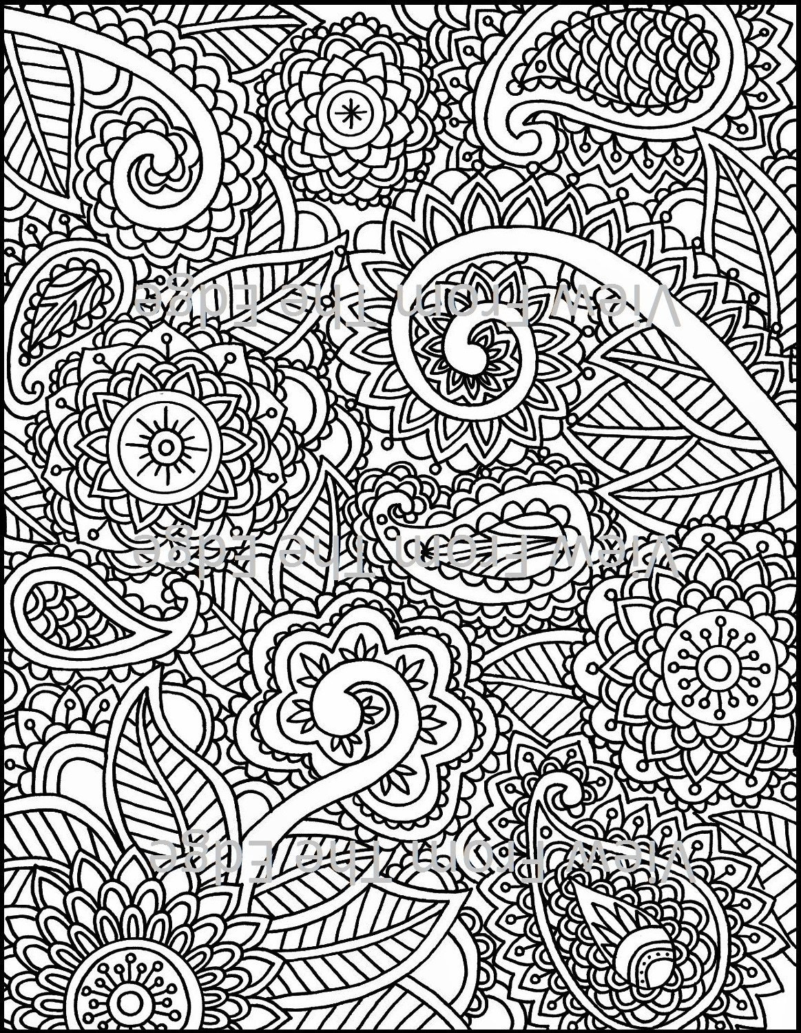 Mehndi Coloring Page Henna Adult Printable PDF Original Design | Etsy