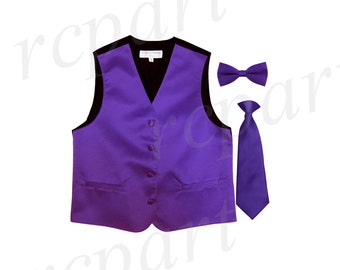 for Formal Occasions Boy/'s Solid Hot Pink Polyester Vest Only