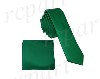for Formal Occasions Men/'s Solid Emerald Green 2.5 skinny Necktie only