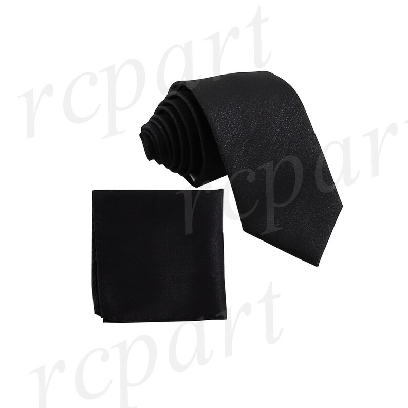 New Vesuvio Napoli Men/'s Polyester Ascot Cravat Necktie Wedding Solid Black