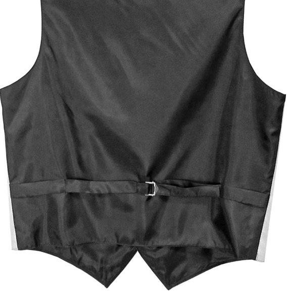 New Men/'s stripes Tuxedo Vest Waistcoat /& necktie /& Bow tie /& Hankie Mocca black