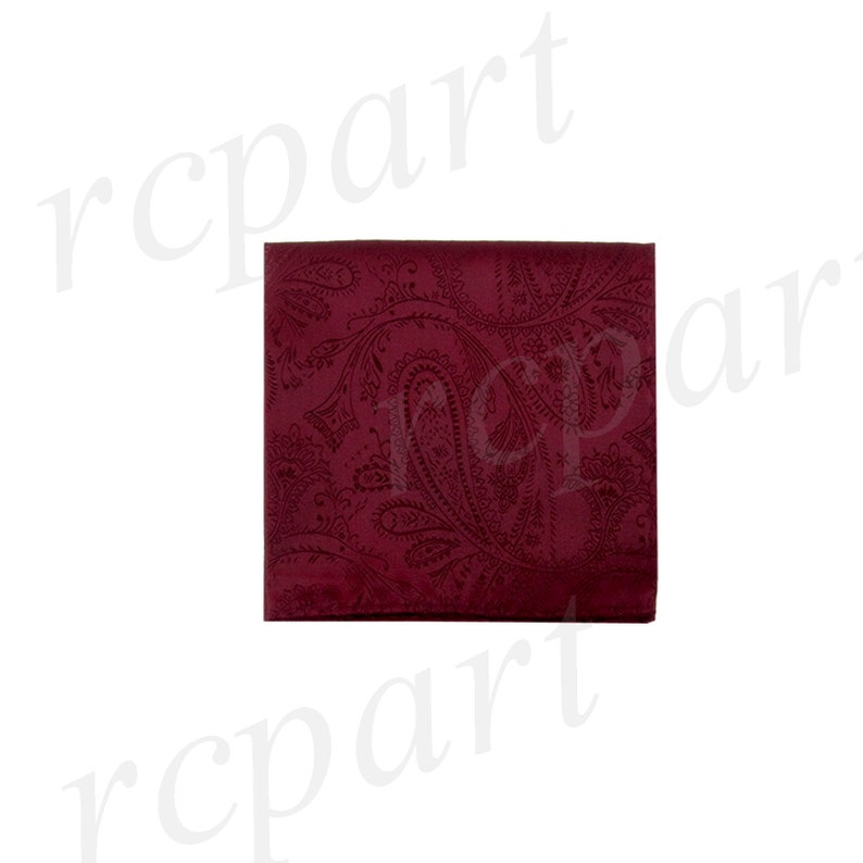 for Formal Occasions New Men/'s Paisley Burgundy Pre-Tied Bowtie and Handkerchief