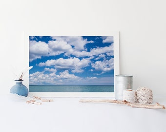 Lake Erie Peaceful Wall Art - Canadian Landscape Photography, Great Lakes Art, Cloud Art Print - Large Wall Art Sizes Available