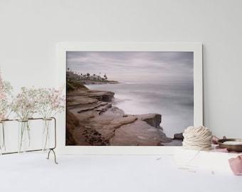 La Jolla Cliffs San Diego Art - California Beach Photography, Summer Beach Art - Fine Art Landscape - Framed Prints Available