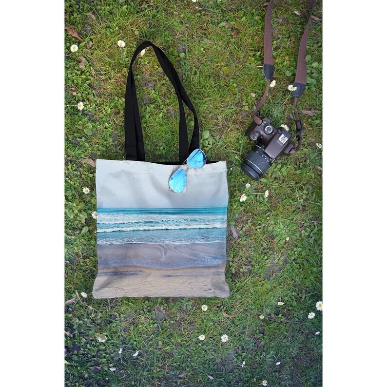 Beach Tote Bag Yoga Bag Back to School Book Bag Pacific image 1