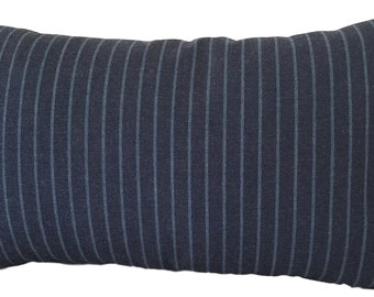 SALE, Indoor Outdoor Pillow, Outdoor Navy Pillow - Sunbrella Pillow Cover - Striped Cushion Cover, SAMPLE SALE