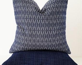 SALE, Indoor Outdoor Pillow, Outdoor Pillow Cover - Navy Outdoor Cushion -  SAMPLE SALE
