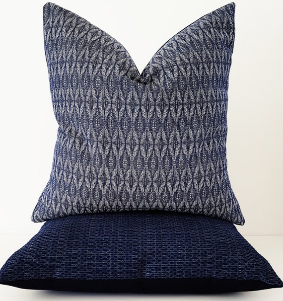 Marvelous Navy Blue Outdoor Pillow Cover Indoor Outdoor Pillow Couch Pillow Designer Pillow Pabps2019 Chair Design Images Pabps2019Com