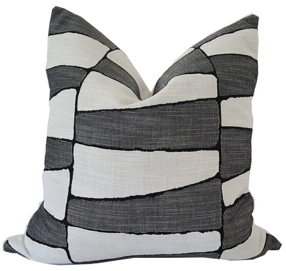 Indoor Outdoor Pillow Outdoor Pillow Cover Blue And White Etsy