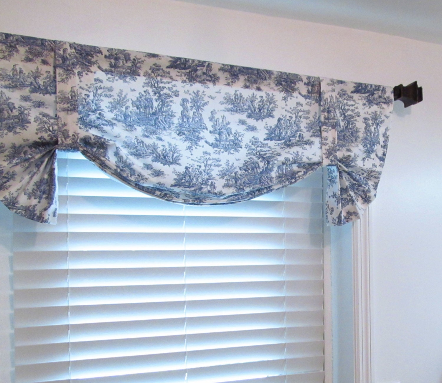 Toile Tie Up Valance London Valance Shabby Chic French