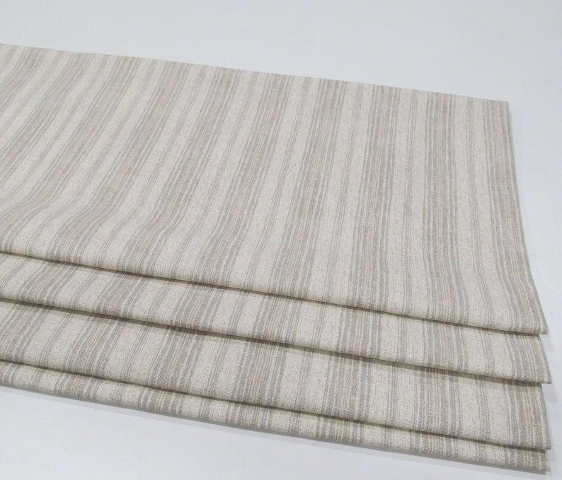 Beige Stripes Lined Mock Valance Modern Farmhouse Magnolia Home Brunswick Stone Custom Sizing Available! Faux Fake Roman Shade