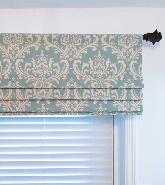 Lined Faux Roman Shade Stationary Roman Blinds Damask Ozborne