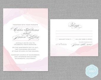 Unity Watercolor Invitation & RSVP Card [Printable   DIY   Digital File]