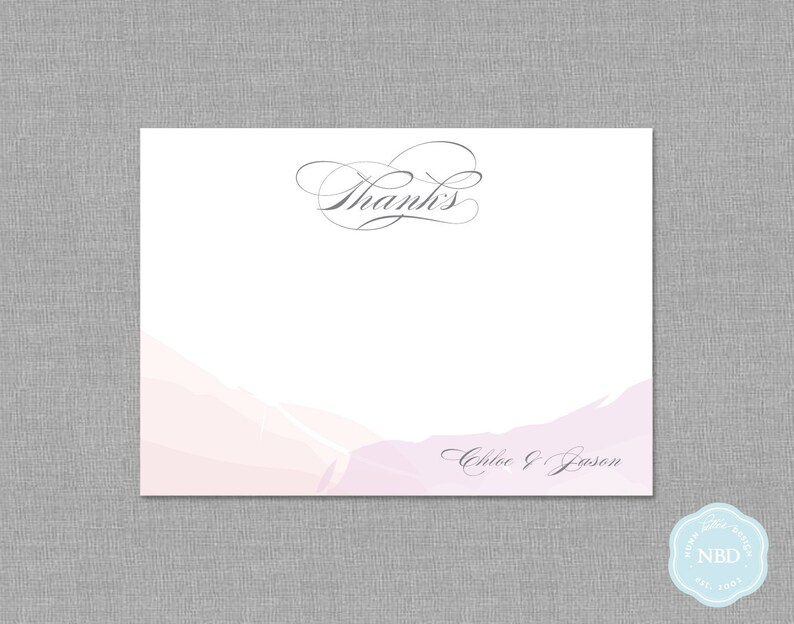 Watercolor Unity Personalized Thank You / Note Card Printable image 1