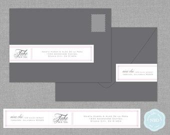 Take Me To Wraparound Mailing Address Labels [Printable   DIY   Digital File]