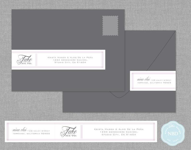 Take Me To Wraparound Mailing Address Labels Printable  DIY image 0